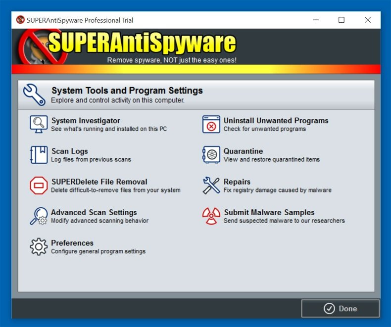 superantispyware features