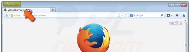 Firefox settings reset clicking on the Firefox button