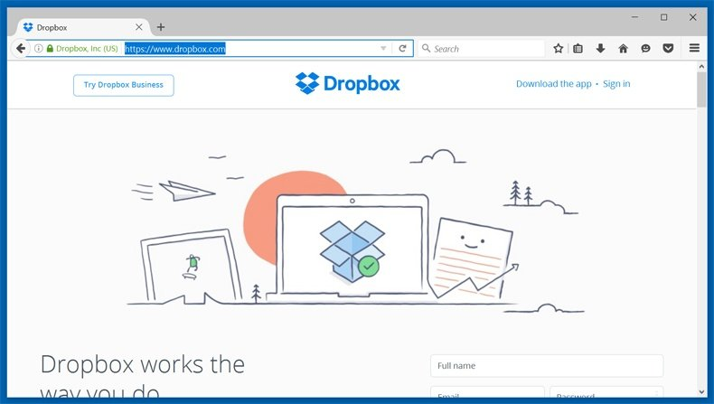 backup solution - dropbox