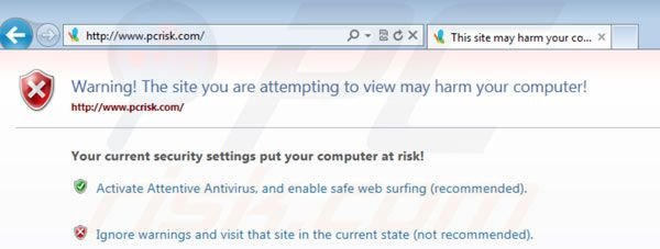 Attentive Antivirus blockiert Internet Browser