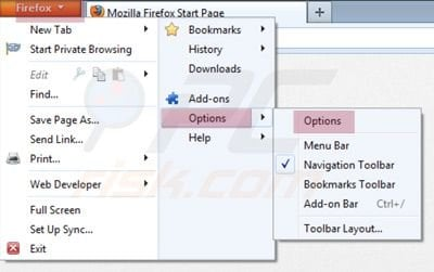 Mozilla FireFox Options