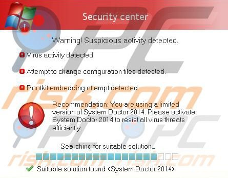 System Doctor 2014 falscher Sicherheitswarnung Pop-up