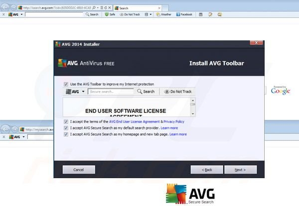AVG Search Redirect