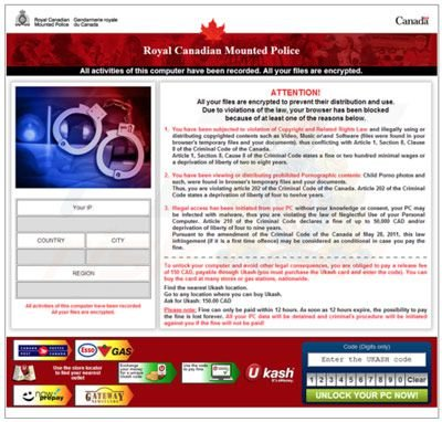 Canada browser blocked
