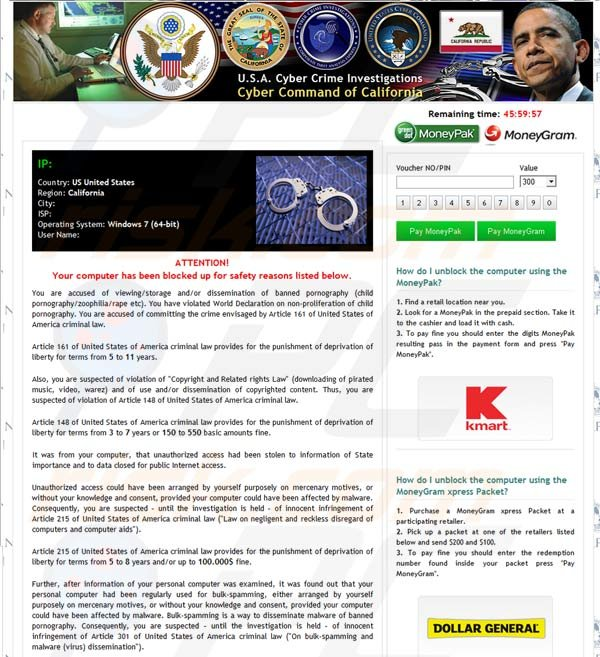 USA Cyber Crime Investigations Virus