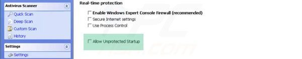 Windows Expert Console ungeschützter Start