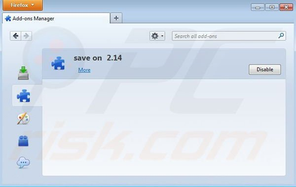 Removing Save On from Mozilla Firefox step 2
