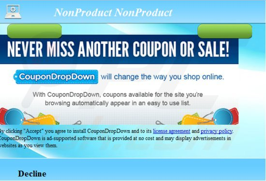 Ads by coupondropdown entfernen