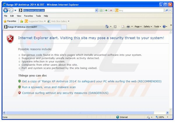 rango xp antivirus 2014 blocking Internet access
