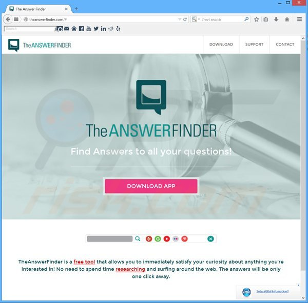 theanswerfinder adware