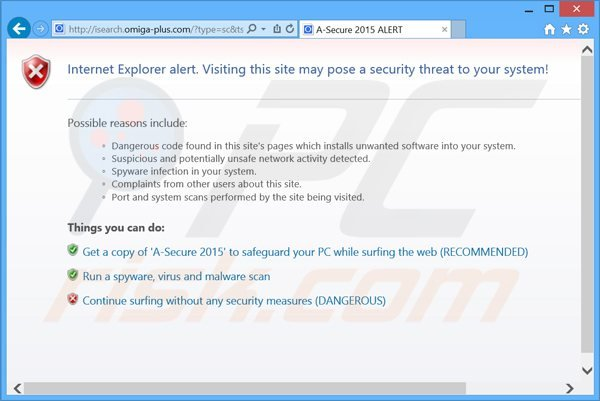 a-secure 2015 rogue antivirus blocking Internet access