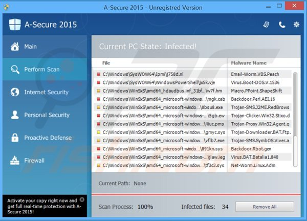 a-secure 2015 performing a fake computer security scan