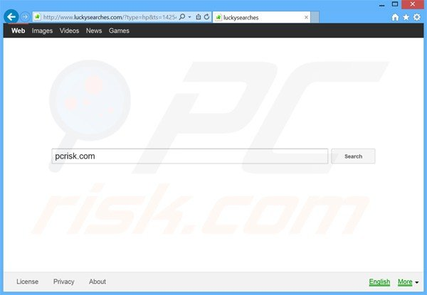 luckysearches.com browser hijacker