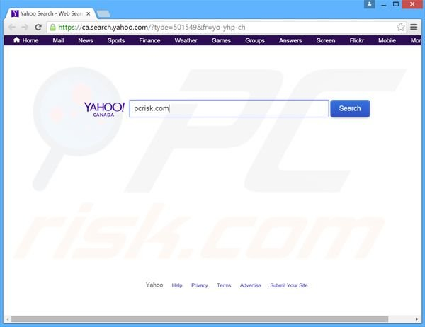 search.yahoo.com browser hijacker
