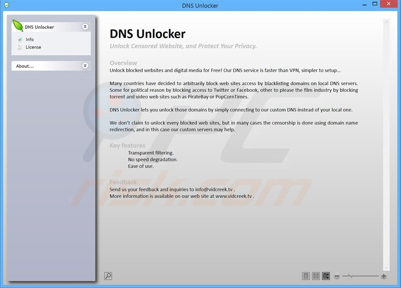 dns unlocker application