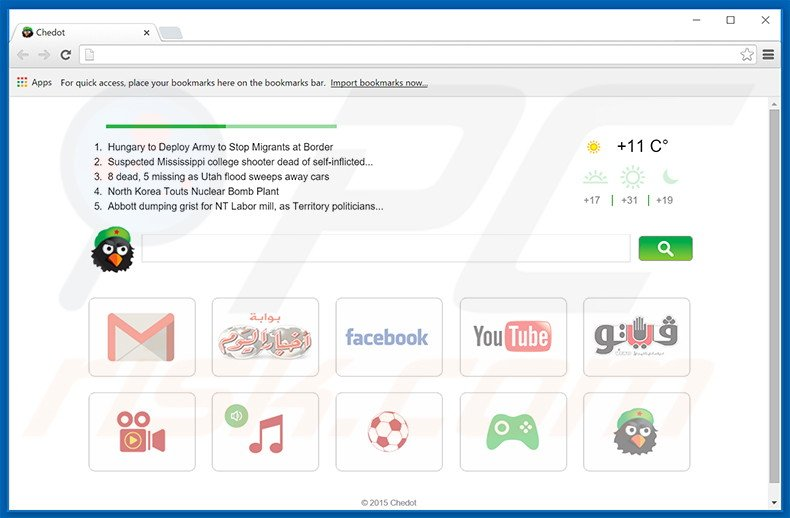 Chedot Browser adware