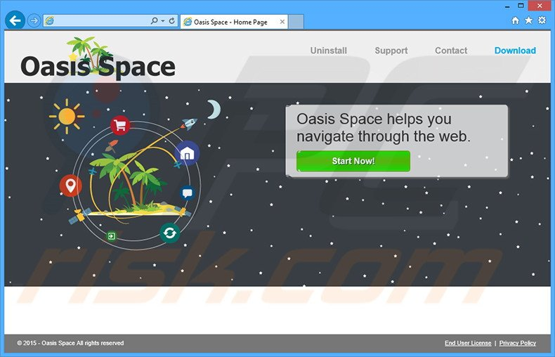 Oasis Space adware
