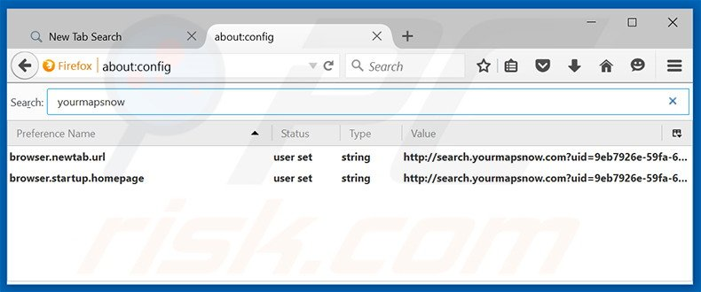 Removing search.yourmapsnow.com from Mozilla Firefox default search engine