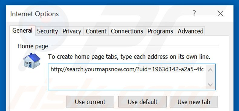 Removing search.yourmapsnow.com from Internet Explorer homepage