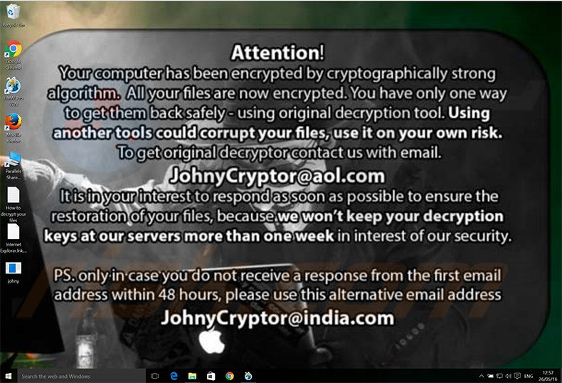 JohnyCryptor decrypt instructions