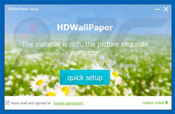Official HDWallpaper adware installer setup