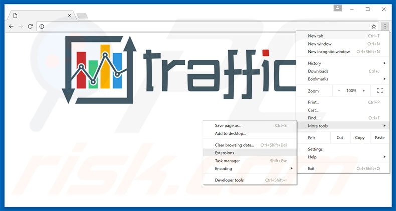 Removing Traffic Exchange  ads from Google Chrome step 1