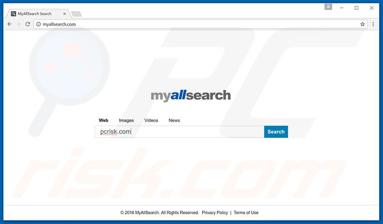 myallsearch.com browser hijacker
