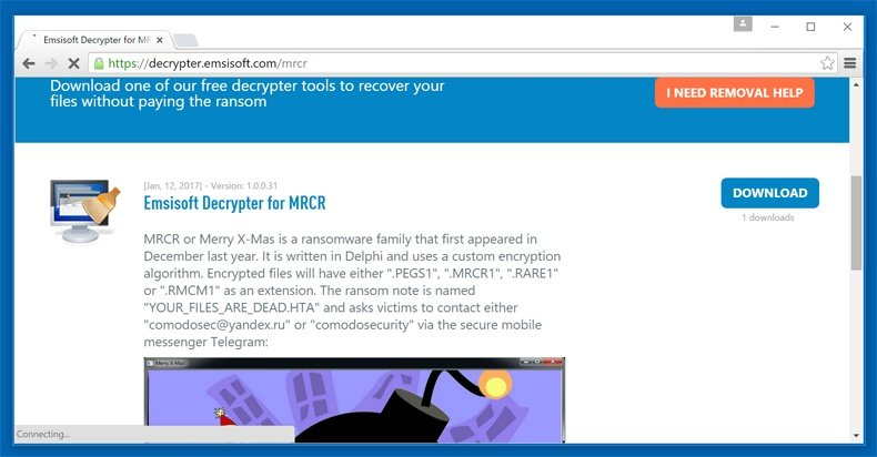 merry x-mass ransomware free decrypter