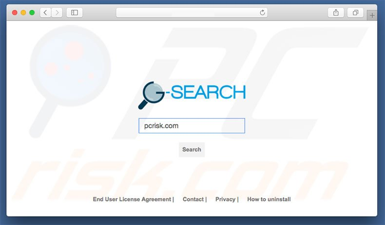 g-search.pro browser hijacker on a Mac computer