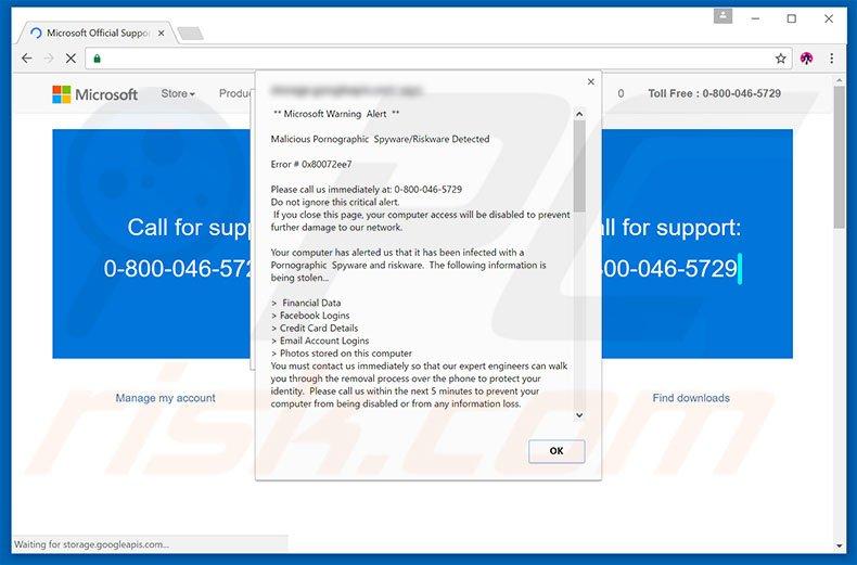 Microsoft Trojaner Meldung