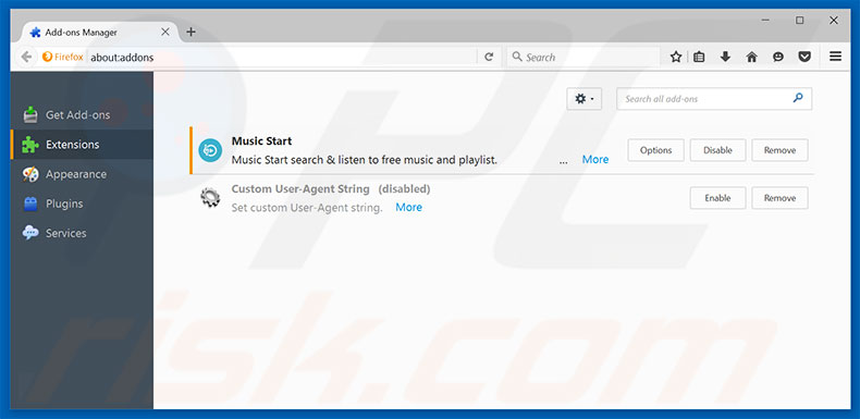 Removing Search In Tabs ads from Mozilla Firefox step 2