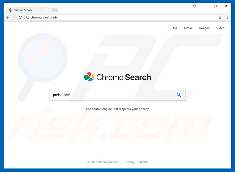 chromesearch.club browser hijacker