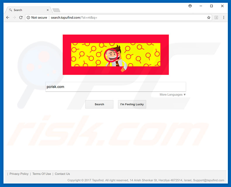 search.tapufind.com browser hijacker