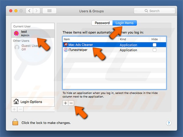 Mac Ads Cleaner PUP system preferences