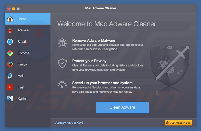 Mac Adware Cleaner adware