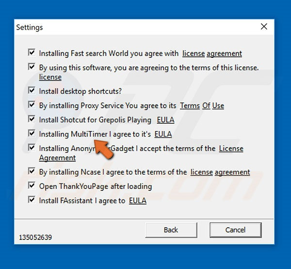 Deceptive installer used to distribute Multitimer adware