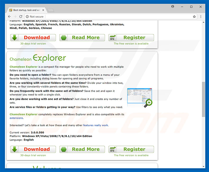 Chameleon Explorer Pro website