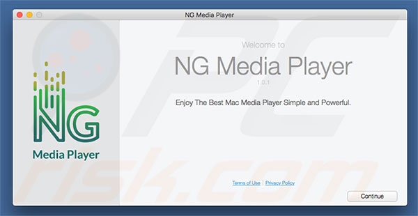 Delusive installer used to promote NG Player