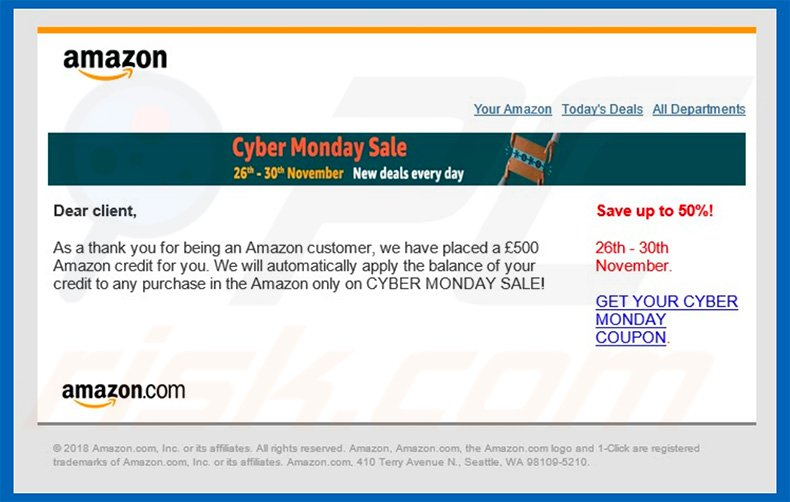 Amazon Email Virus email letter