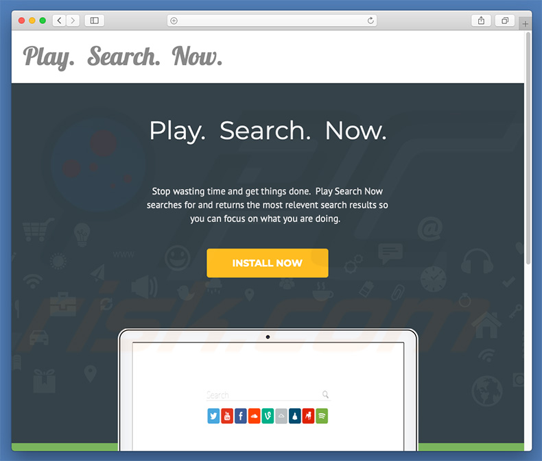 Dubious website used to promote searchp.icu