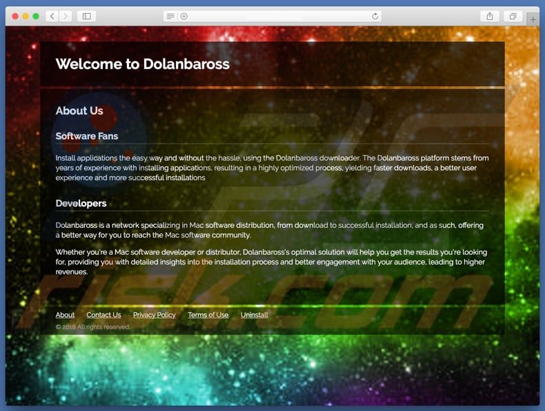 Dubious website used to promote search.dolanbaross.com