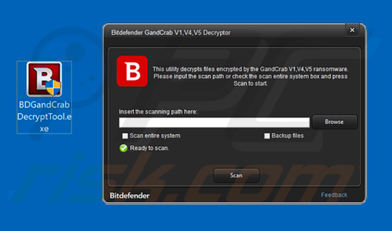 GandCrab ransomware decryption tool by Bitdefender