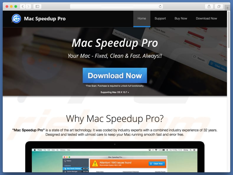 Mac Speedup Pro unwanted application