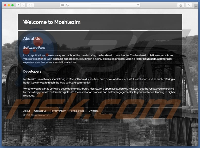 Dubious website used to promote search.moshlezim.com