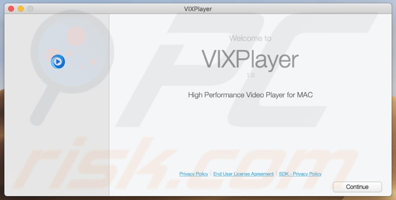 Delusive installer used to promote VixPlayer
