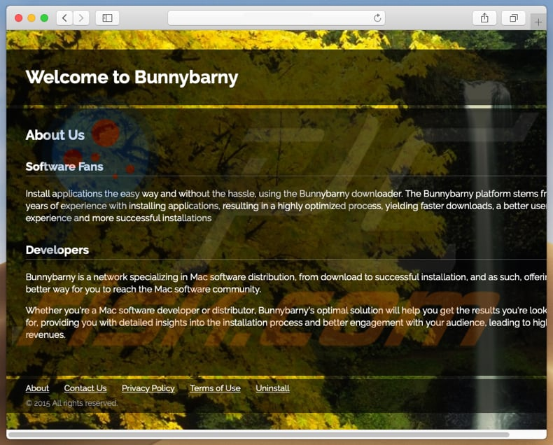 Dubious website used to promote search.bunnybarny.com