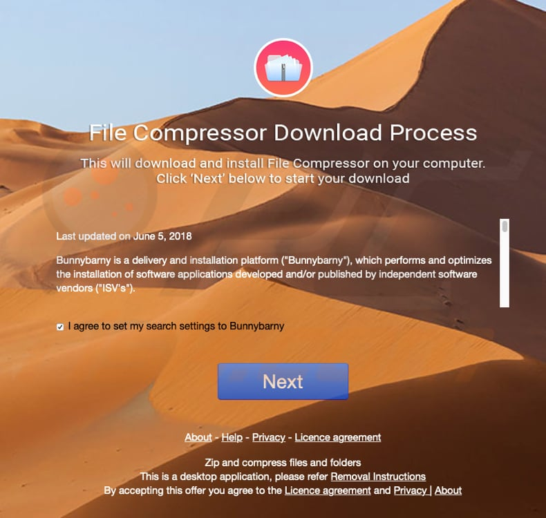 file compressor pro installer promoting bunnybarny.com