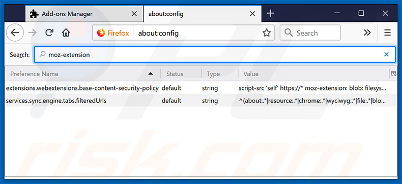 Removing approvedresults.com from Mozilla Firefox default search engine