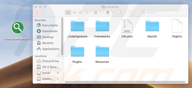 installation folder of GeneralNetSearch