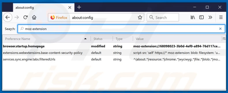 Removing search.hgetrecipesnow.com from Mozilla Firefox default search engine